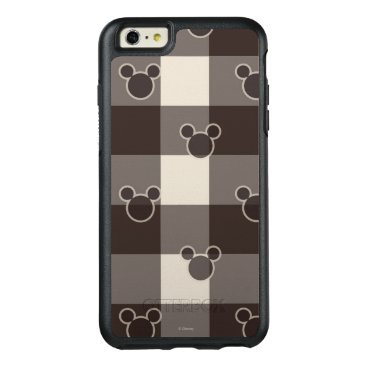 Disney Themed Mickey Mouse   Brown Plaid Pattern OtterBox iPhone 6/6s Plus Case