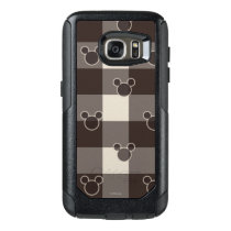 Mickey Mouse | Brown Plaid Pattern OtterBox Samsung Galaxy S7 Case