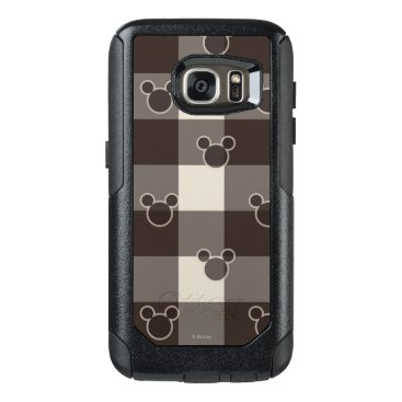 Disney Themed Mickey Mouse   Brown Plaid Pattern OtterBox Samsung Galaxy S7 Case
