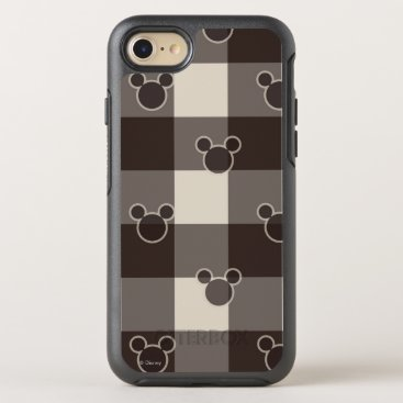 Disney Themed Mickey Mouse   Brown Plaid Pattern OtterBox Symmetry iPhone 7 Case
