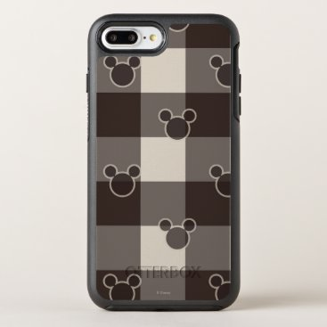 Disney Themed Mickey Mouse   Brown Plaid Pattern OtterBox Symmetry iPhone 7 Plus Case