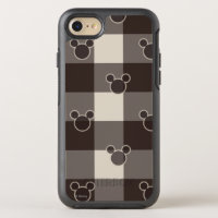Mickey Mouse | Brown Plaid Pattern OtterBox Symmetry iPhone 8/7 Case