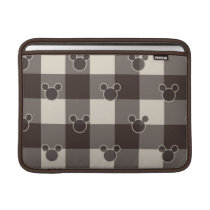 Mickey Mouse | Brown Plaid Pattern Sleeve For MacBook Air