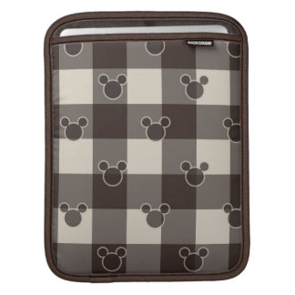 Mickey Mouse | Brown Plaid Pattern Sleeves For iPads