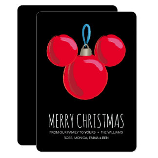 Mickey Mouse Christmas Ornament Card