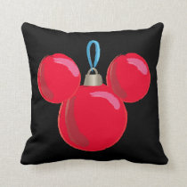 Mickey Mouse Christmas Ornament Throw Pillow