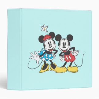 Mickey Mouse clásico y Minnie Carpeta 1 1/2""