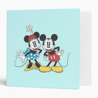 Mickey Mouse clásico y Minnie Carpeta 2""