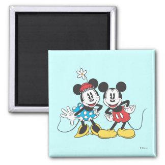 Mickey Mouse clásico y Minnie Iman De Frigorífico