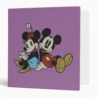 Mickey Mouse clásico y Minnie Mouse