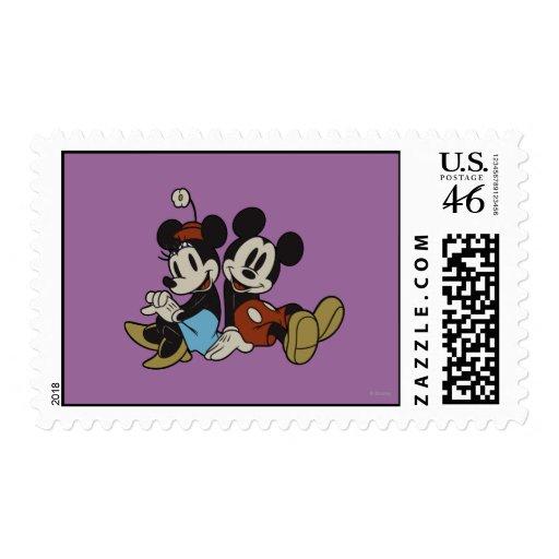 Mickey Mouse clásico y Minnie Mouse Franqueo