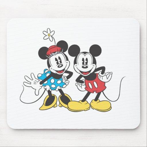 Mickey Mouse clásico y Minnie Alfombrilla De Ratones