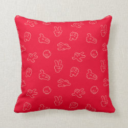 Mickey Mouse | Classic Icon Red Pattern Throw Pillow
