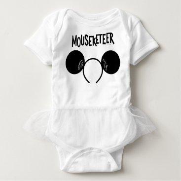 Disney Themed Mickey Mouse Club Ears Baby Bodysuit