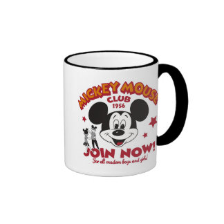 """Mickey Mouse Club """"Join Now"""" Mugs"""