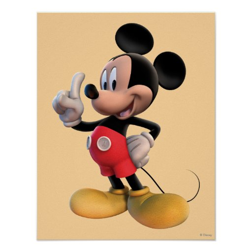 mickey mouse clubhouse pointing poster zazzle. Black Bedroom Furniture Sets. Home Design Ideas