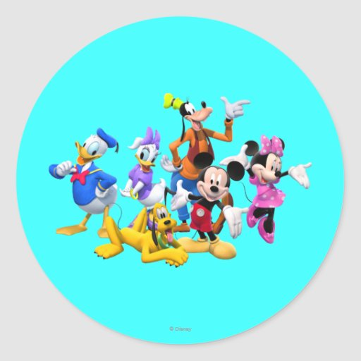 Mickey Mouse Clubhouse Round Sticker