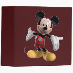 Avery Signature 1' Binder with Welcoming Mickey Mouse in 3D design