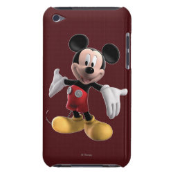 Welcoming Mickey Mouse in 3D Case-Mate iPod Touch Barely There Case