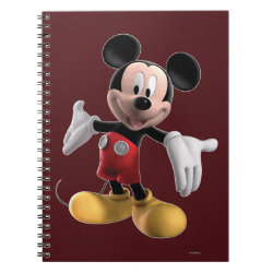 Photo Notebook (6.5' x 8.75', 80 Pages B&W) with Welcoming Mickey Mouse in 3D design