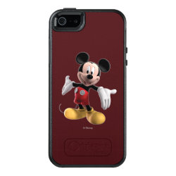 OtterBox Symmetry iPhone SE/5/5s Case with Welcoming Mickey Mouse in 3D design