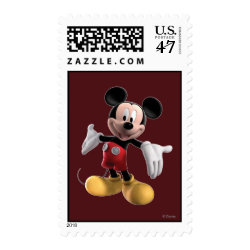 Medium Stamp 2.1' x 1.3' with Welcoming Mickey Mouse in 3D design