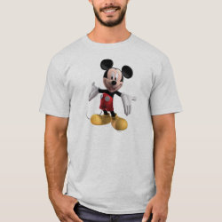 Men's Basic T-Shirt with Welcoming Mickey Mouse in 3D design