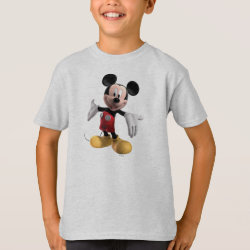Welcoming Mickey Mouse in 3D Kids' Hanes TAGLESS® T-Shirt
