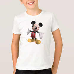 Kids' American Apparel Fine Jersey T-Shirt with Welcoming Mickey Mouse in 3D design