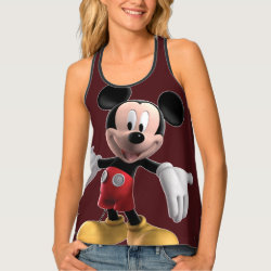 Welcoming Mickey Mouse in 3D Women's All-Over Print Racerback Tank Top