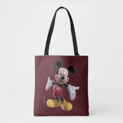 Welcoming Mickey Mouse in 3D All-Over-Print Tote Bag, Medium