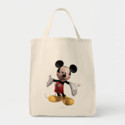 Grocery Tote with Welcoming Mickey Mouse in 3D design