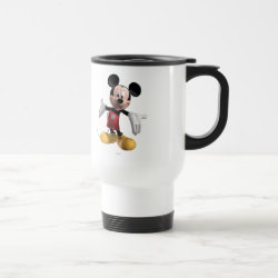Travel / Commuter Mug with Welcoming Mickey Mouse in 3D design