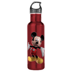 Water Bottle (24 oz) with Welcoming Mickey Mouse in 3D design