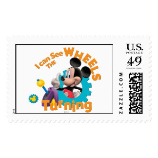 Mickey Mouse Clubhouse   Wheels Turning Postage Stamp