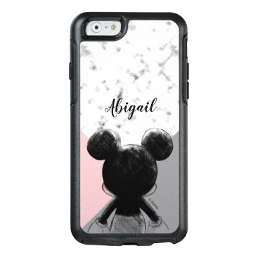 Mickey Mouse   Color Block - Pink Grey Marble OtterBox iPhone 6/6s Case