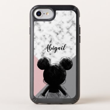 Mickey Mouse   Color Block - Pink Grey Marble Speck iPhone Case