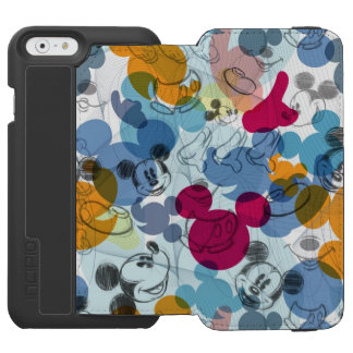 Mickey Mouse   Color Pattern iPhone 6/6s Wallet Case