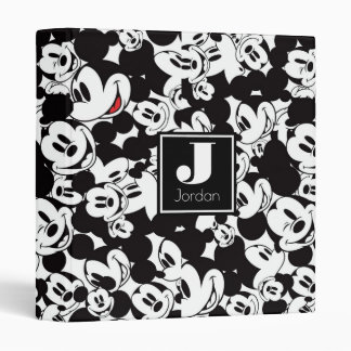 Mickey Mouse | Crowd Pattern 3 Ring Binder