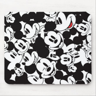 Mickey Mouse   Crowd Pattern Mouse Pad