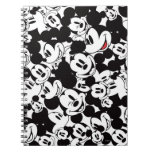 Mickey Mouse   Crowd Pattern Spiral Notebook