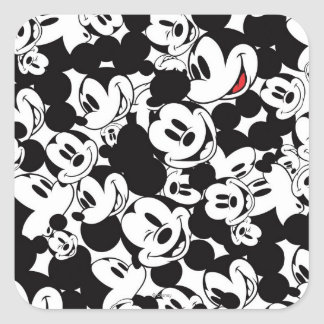 Mickey Mouse | Crowd Pattern Square Sticker