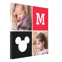 Mickey Mouse | Custom Photos & Monogram Canvas Print