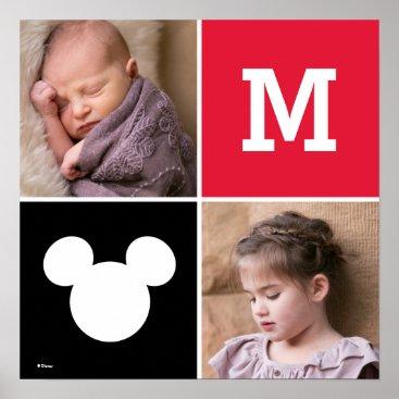 Disney Themed Mickey Mouse | Custom Photos & Monogram Poster