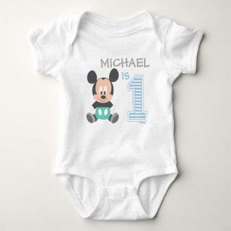 Mickey Mouse el | personalizado primer cumpleaños Remeras