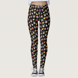 Mickey Mouse Emoji Black Pattern Leggings