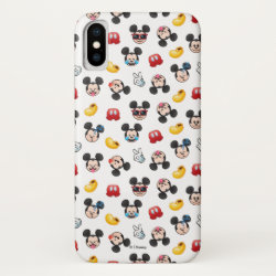 Mickey Mouse Emoji Pattern iPhone X Case