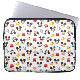 Mickey Mouse Emoji Pattern Laptop Sleeve
