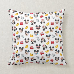 Cotton Throw Pillow with Mickey Mouse Patterns design
