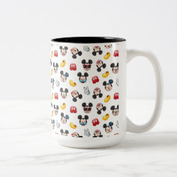 Two-Tone Mug with Mickey Mouse Patterns design